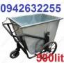 Xe gom rác tôn 400 lít, xe đẩy rác, xe thu rác thải, xe cải tiến,xe gom rác thải