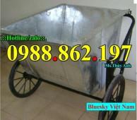 xe rác,thùng rác, xe gom rác 500l giá rẻ, xe gom rác bằng tôn, xe gom rác 400L b