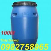 Thùng đựng hóa chất 100l, phuy 100l, thùng phuy