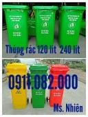 Thùng rác 120 lít 240 lít giá sỉ tại long an- thùng rác giá ưu đãi