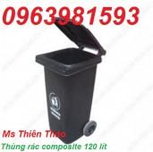 Thùng rác công nghiệp, thùng rác nhựa HDPE 240l, thùng rác công cộng