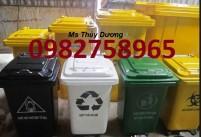 thùng rác dùng trong y tế, thùng rác trong các bệnh viện, thùng rác 90l,