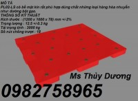 Chuyên cung cấp pallet đơn, pallet nhựa, pallet kê hàng giá rẻ