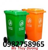 Cung cấp thùng rác nắp hở, thùng rác 240l, thùng rác nhựa HDPE giá rẻ