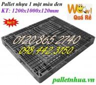 Thanh lý pallet nhựa, pallet nhựa đen, pallet nhựa xuất khẩu giá siêu rẻ