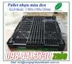 Pallet nhựa màu đen 1300x1100x120mm, pallet nhựa 1300x1100x120mm