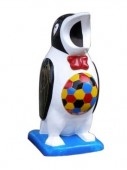 Thùng rác chim cánh cụt, thùng rác hình con thú ngộ nghĩnh