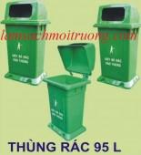 Thùng rác nhựa Composite 95 lít, thùng rác công cộng, thùng rác đô thị