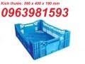 Sóng nhựa rỗng, sọt nhựa quai sắt, sóng nhựa đan HS011, rổ nhựa công nghiệp