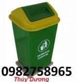 thùng rác, thùng rác nhựa 90l đạp chân, thùng rác nhựa đạp chân 90l,