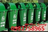 Thùng rác đô thị, thùng rác ngoài trời, thùng rác 120 lít,thùng rác 240 lít HDPE