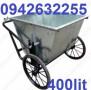 Xe gom rác tôn 400 lít, xe đẩy rác, thùng đựng rác siêu rẻ, siêu bền