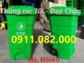 Nơi chuyên cung cấp thùng rác giá rẻ tại vĩnh long- thùng rác 120L 240L 660L