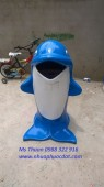 Bán Thùng rác cá heo, thùng rác hình thú