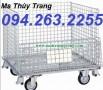 Bán xe đẩy hàng, lồng thép trữ hàng, lồng thép giá rẻ giao hàng toàn quốc