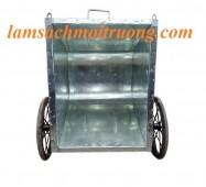Xe gom rác bằng tôn, xe đẩy rác 500 lít, xe thu gom rác công cộng giá rẻ