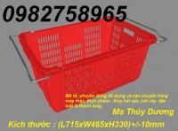 Sọt nhựa công nghiệp, sọt nhựa quai sắt giá rẻ, sóng nhựa rỗng rẻ, rổ nhựa
