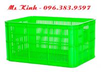 rổ nhựa dày cứng cáp giá rẻ, công ty bán thùng nhựa ở hcm, sóng nhựa