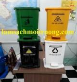 Cung cấp thùng rác y tế đạp chân, thùng rác y tế 240l, thùng đựng chất thải