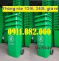 Hậu giang- chuyên phân phối thùng rác 120L 240L 660L giá rẻ- lh 0911.082.000