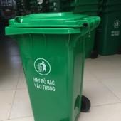 Giá bán thùng rác nhựa 120 lit có bánh xe