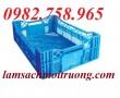Sóng nhựa rỗng HS016, sọt trái cây, rổ nhựa công nghiệp, sóng nhựa đan giá rẻ