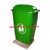Thùng rác nhựa Composite 50 lít, thùng rác nhựa, thùng rác công cộng giá rẻ