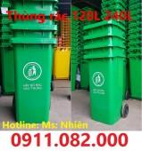 Nơi bán thùng rác 240 lít giá rẻ tại khánh hoà- thùng rác 240 lít màu xanh