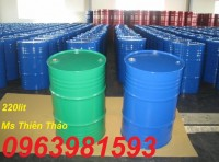 Thùng phuy sắt 220l, thùng phuy đựng dầu, phuy đựng hóa chất giá rẻ