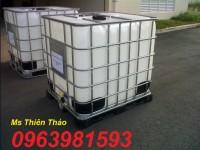 Bán bồn đựng hóa chất, thùng chứa hóa chất, thùng 1000l màu trắng