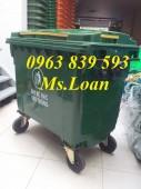 Thùng rác công cộng 660L 4 bánh xe