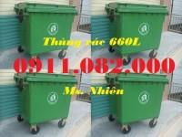 Phân phối thùng rác 120 lít giá rẻ, thùng rác 120 lít màu xanh, cam, vàng, thùng