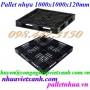 Pallet nhựa 1000x1000x120mm màu đen