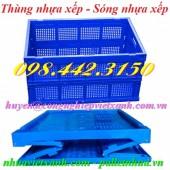 Thùng nhựa xếp, sóng xếp, thùng gấp xếp TGX50 giá rẻ call 0984423150 – Huyền