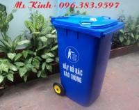 thùng rác công nghiệp vừa bền vừa rẻ, thùng rác loại 120 lít nhựa hdpe giá rẻ