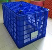 Rổ sóng nhựa HS0199 5 bánh xe