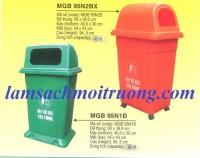 Thùng rác 95 lít, thùng rác công nghiệp 95 lít, thùng rác công cộng,