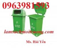 Thùng rác nhựa HDPE, thùng rác 95 lít, thùng rác công cộng giá rẻ
