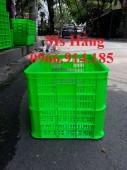 Rổ nhựa cao 39cm,sóng nhựa hở cao 3 tấc 9,sọt nhựa đựng nông sản