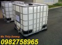 Thùng đựng hóa chất, thùng nhựa 1 khối, tank 1000l, bồn nhựa 1000l giá rẻ