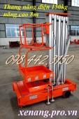 Thang nâng điện 150kg cao 8 mét hàng có sẵn xả hàng giá gốc call 0984423150