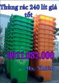 Bán các loại thùng rác nhựa giá rẻ- thùng rác 120L 240L 660L giá tốt