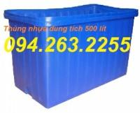 Thùng nhựa 2000 lít, thùng nhựa có nắp đậy, thùng cỡ lớn, bồn chứa giá siêu rẻ