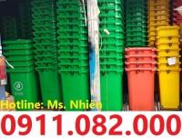 Thùng rác 120 lít giá rẻ tại tây ninh- thùng rác công cộng- 0911082000