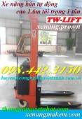 Xe nâng bán tự động 1 tấn nâng cao 1.6 mét giá siêu cạnh tranh call 0984423150