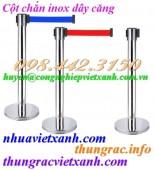Cột chắn inox dây kéo căng 2 mét, 3 mét, 5 mét