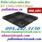 Pallet nhựa đen 1300x1100x120mm giá rẻ call 0984423150 Huyền