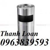 Cc thùng rác inox gạt tàn để văn phòng giá cực rẻ -Call: 0963.839.593 Thanh Loan
