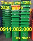 Địa chỉ phân phối thùng rác giá rẻ- thùng rác 120L 240L 660L nhựa hdpe giá thấp