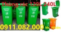 Cần bán thùng rác 120 lít 240 lít giá rẻ- thùng rác nhựa giá thấp